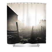 Black And White Sunrise Shower Curtain