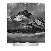 Black And White Tantalus Storms Shower Curtain