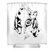 Black And White Trio Of Koi Shower Curtain