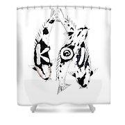 Black And White Trio Of Koi Shower Curtain