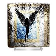Black Angel Shower Curtain
