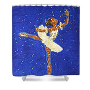 Black Ballerina Shower Curtain