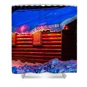 Black Bear Cabin Shower Curtain