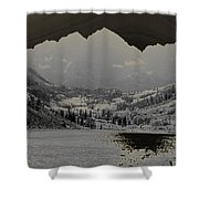 Black Bells Shower Curtain