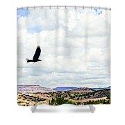 Black Bird In Flight Shower Curtain