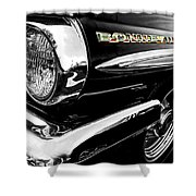 Black Bonneville Shower Curtain