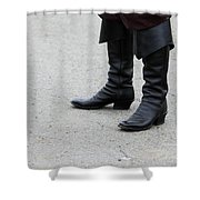 Black Boots Shower Curtain