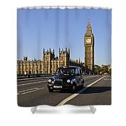 Black Cab And Big Ben Shower Curtain