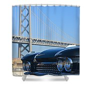 Black Cadillac In San Francisco Shower Curtain