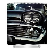 black Cadillac Shower Curtain