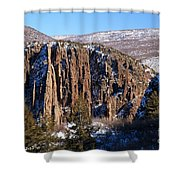 Black Canyon Butte Shower Curtain