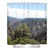 Black Canyon Of The Gunnison Panorama Shower Curtain