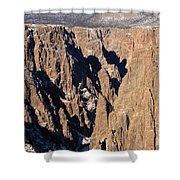 Black Canyon Pinnacles Shower Curtain