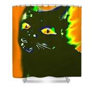 Black Cat 3 Shower Curtain