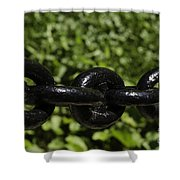 Black Chain Shower Curtain