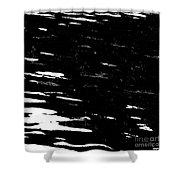 Black Cinders In Winter Shower Curtain
