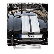Black Cn Cobra Classic Car Shower Curtain
