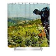 Black Cow Dartmoor Shower Curtain