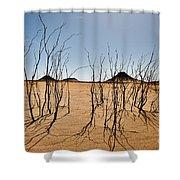 Black Desert Shower Curtain