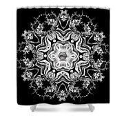 Black Diamond Princess Pendant Shower Curtain