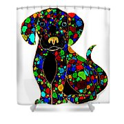 Black Dog 2 Shower Curtain