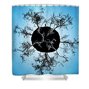 Black Earth Alone Shower Curtain