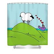 Black Faced Sheep 20150206 Shower Curtain