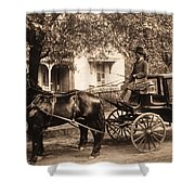 Black Family In Buggy Shower Curtain by Paul W Faust -  Impressions of Light