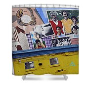 Black Family Reunion Mural Shower Curtain