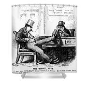 Black Friday Cartoon, 1873 Shower Curtain