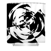 Black Gravity Shower Curtain