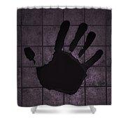 Black Hand Pink Shower Curtain