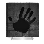 Black Hand Shower Curtain