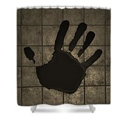 Black Hand Sepia Shower Curtain