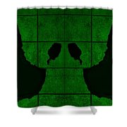 Black Hands Green Shower Curtain