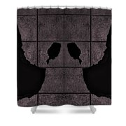 Black Hands Pink Shower Curtain