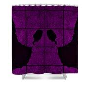 Black Hands Purple Shower Curtain