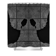 Black Hands  Shower Curtain