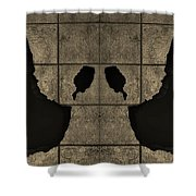 Black Hands Sepia Shower Curtain