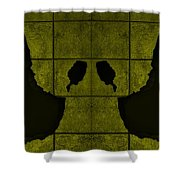 Black Hands Yellow Shower Curtain
