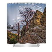 Black Hills Boulders Shower Curtain