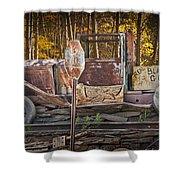 Black Hills Gold Truck Sign Shower Curtain