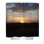 Black Hills Sunset IIi Shower Curtain