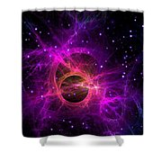 Black Hole In Space Shower Curtain