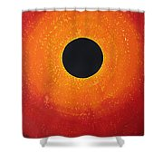 Black Hole Sun Original Painting Shower Curtain
