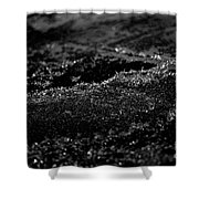 Black Ice Abstract Shower Curtain