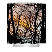 Black Ink Light  Shower Curtain