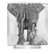 Black Ivory Shower Curtain