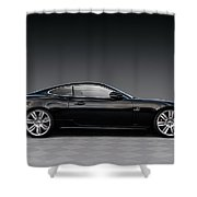 Black Jag Shower Curtain