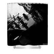 Black Lace Valentine Shower Curtain